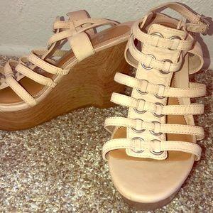 Gianni Bini Tan Wedges - Size 8.5